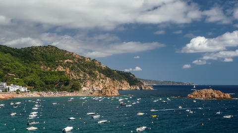 "Seascape of the ""COSTA BRAVA"" in Catalonia Footage"