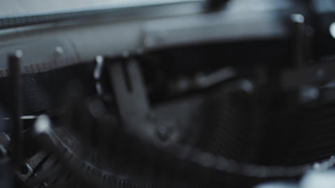 Old typewriter details Footage