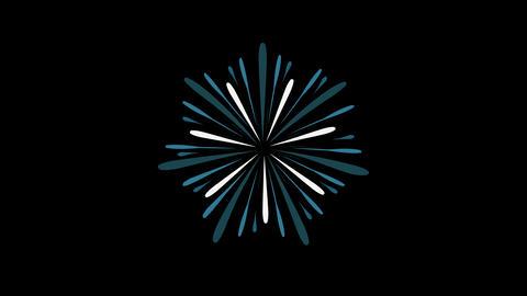 Fireworks display celebration flat design animation icon Animation