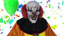 The clown is gloating, animation Animation