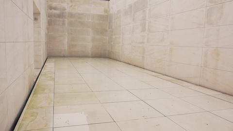 An empty white room. White marble. 4K Live Action