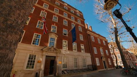Europe House, London, England, UK Footage
