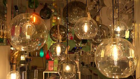 Old incandescent lamp. 4K Footage