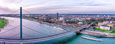 Aerial View of Duesseldorf in Germany - Europe Fotografía