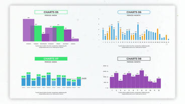 Infographics: Vertical Chart Creator After Effectsテンプレート
