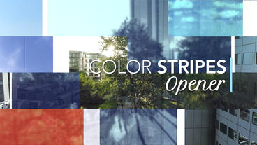 Color Stripes Opener – After Effects Template After Effects Template