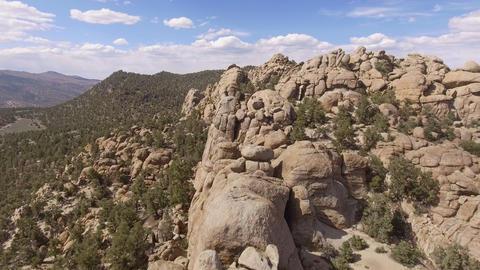 Aerial Shot Rock Formation Live Action