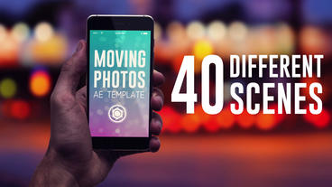 Moving Photos Mobile Mockup Bundle After Effectsテンプレート