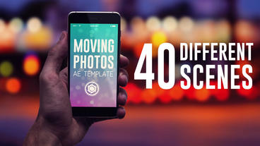 Moving Photos Mobile Mockup Bundle Plantilla de After Effects