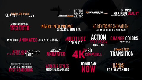 Adjustable Glitch Titles with Sound FX Motion Graphics Template