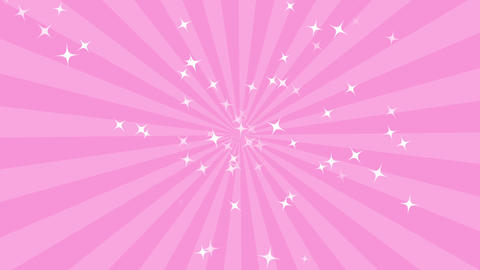 concentration line background pink CG動画素材