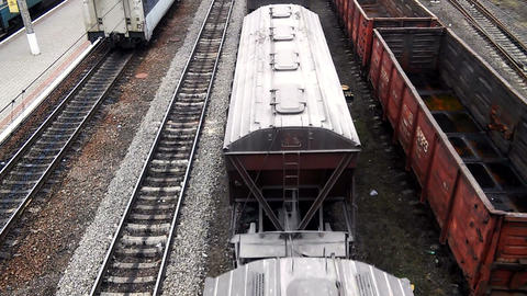 Freight cars are moving Footage