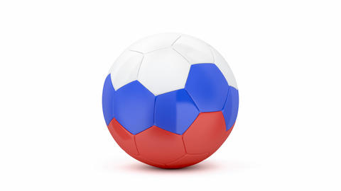 Soccer ball with on white background GIF