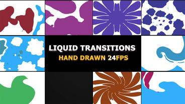 2D FX Liquid Transitions Premiere Pro Template