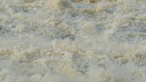 waterfall raging stream slow motion Footage