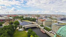 Aerial skyline view of Berlin city, Germany Archivo