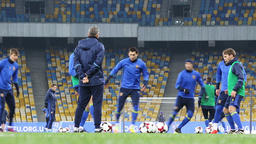 Training session of Ukraine National Football Team in Kiev Footage