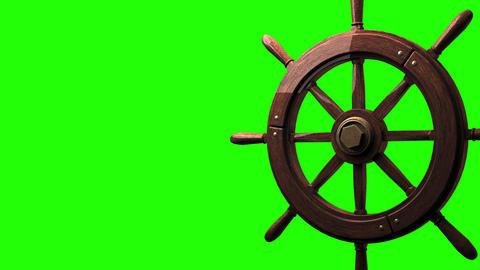 Rudder on green chroma key Animation