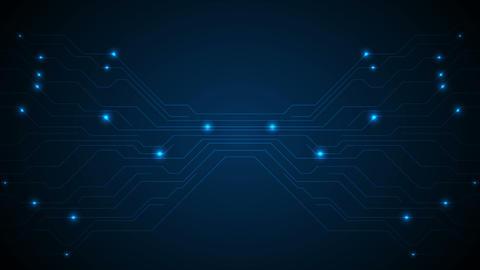 Dark blue circuit board technology video animation Animation