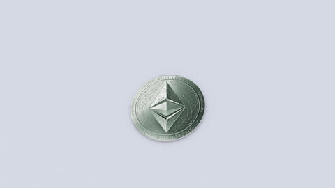 Side travelling of Ethereums classic cryptocurrency growth Animation