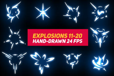 Liquid Elements 2 Explosions 11-20 After Effects Template