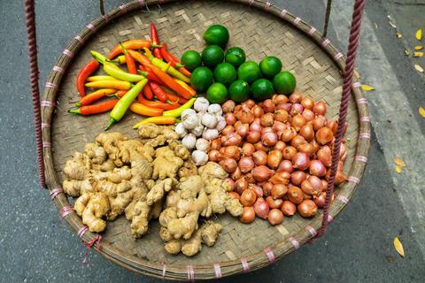 Vegetables for sale on the street market Fotografía