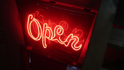 The Open Sign Light GIF
