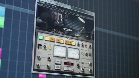 Using vinyl sound emulator plugin in professional audio production software Live Action