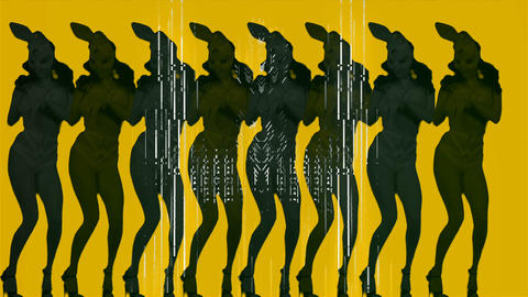 The Yellow Strobe Power of the Frau Bunny Full HD VJ Loop Footage