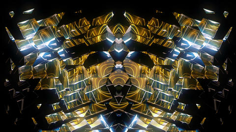 The Silver Glitch of Golden Energy Full HD VJ Loop Animation