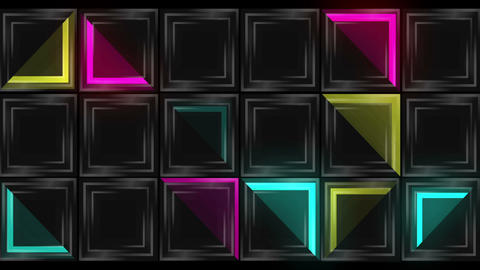 Dance Floor Colorful Magic Full HD VJ Loop Animation