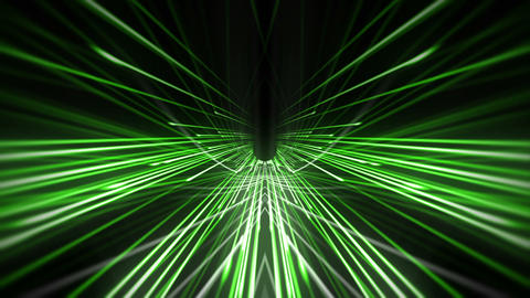 Green Strings Needle Shiny Tunnel Full HD VJ Loop Animation