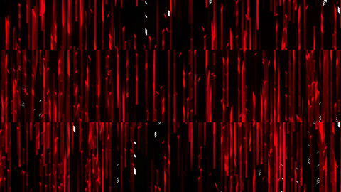Red-Blooded Glitching Rain Full Hd VJ Loop Animation