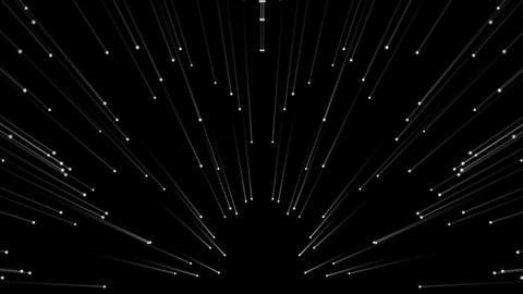 The Dance of Silver Comets Full HD VJ Loop Stock Video Footage