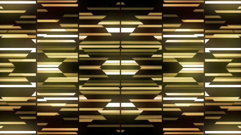 Sliding Dance Of Golden Grid Full Hd Loop Animation