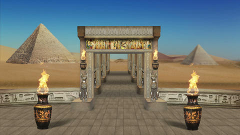 The Entrance to the Ancient Egyptian Temple Full HD VJ Loop Animation