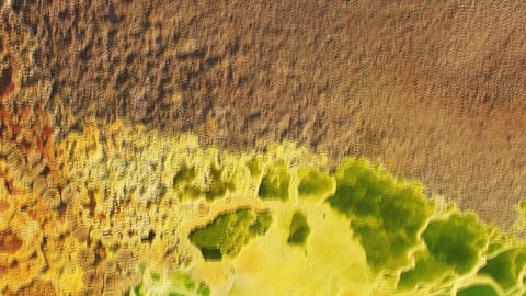 Dallol volcano Danakil depression Ethiopia (aerial photography) Footage