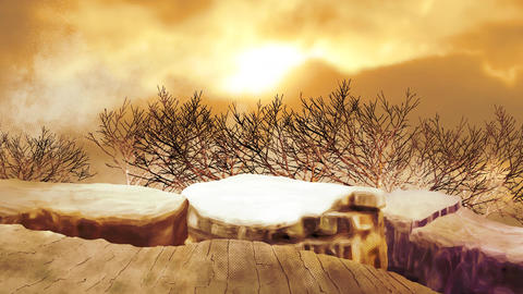 Sunset trees 애니메이션