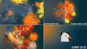 3D colorful Logo reveal After Effects Template