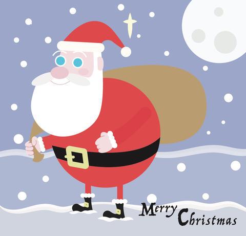Merry Christmas Santa - Vector Photo
