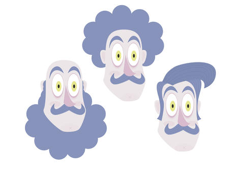 Characters Heads - Vector フォト