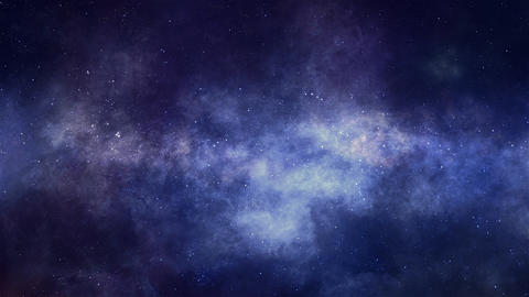 Star Space and Nebulae Panorama Stock Video Footage