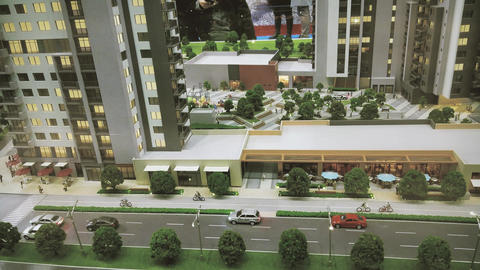 Small Model of street and buildings Archivo