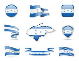 Honduras Flags Collection Vector