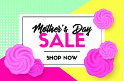 Discount vector template. Mother's day sale card Vector