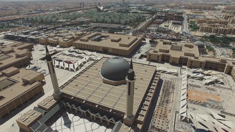 A view from the air to the Islamic University of Imam Muhammad ibn Saud Footage
