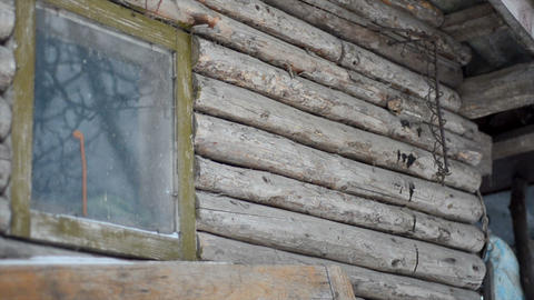 Old ruined abandoned wooden house Live Action
