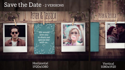 Save The Date After Effects Template