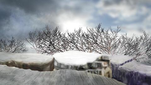 朝日の木々の背景 CG動画素材