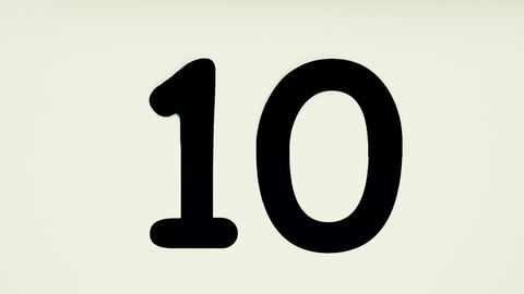 Digits Countdown Animation Animation